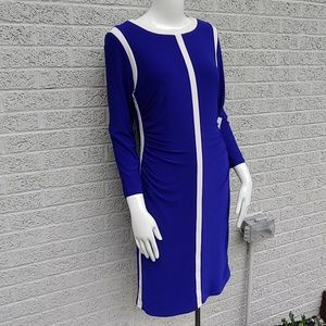 Ralph Lauren Blue and White Striped Dress NWT